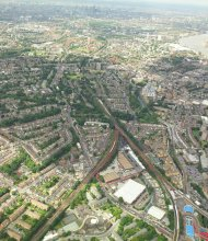 Aerial view of Lewisham site